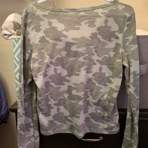 Cropped Camo Womens Blouse